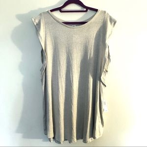Old Navy Luxe High Neck Ruffle Sleeve Top XXL